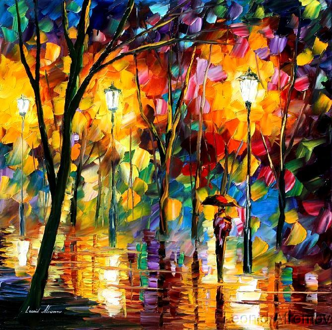 Modern impressionism palette knife oil painting kp021