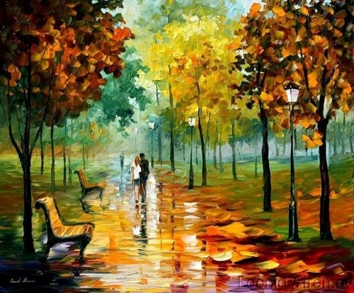 Modern impressionism palette knife oil painting kp027