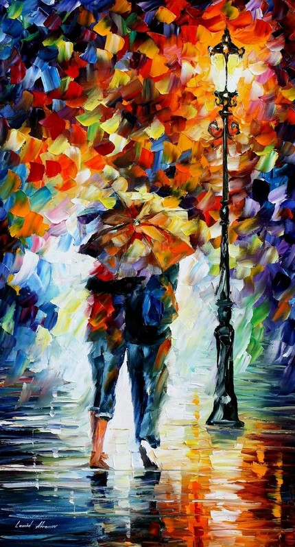 Modern impressionism palette knife oil painting kp039