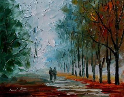 Modern impressionism palette knife oil painting kp047