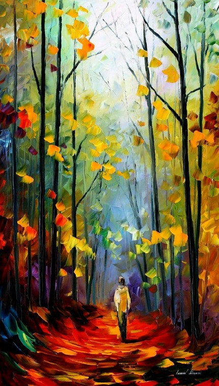 Modern impressionism palette knife oil painting kp054
