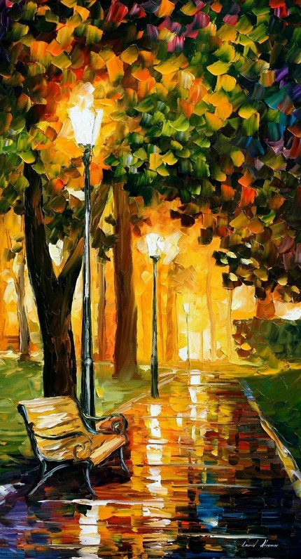 Modern impressionism palette knife oil painting kp055