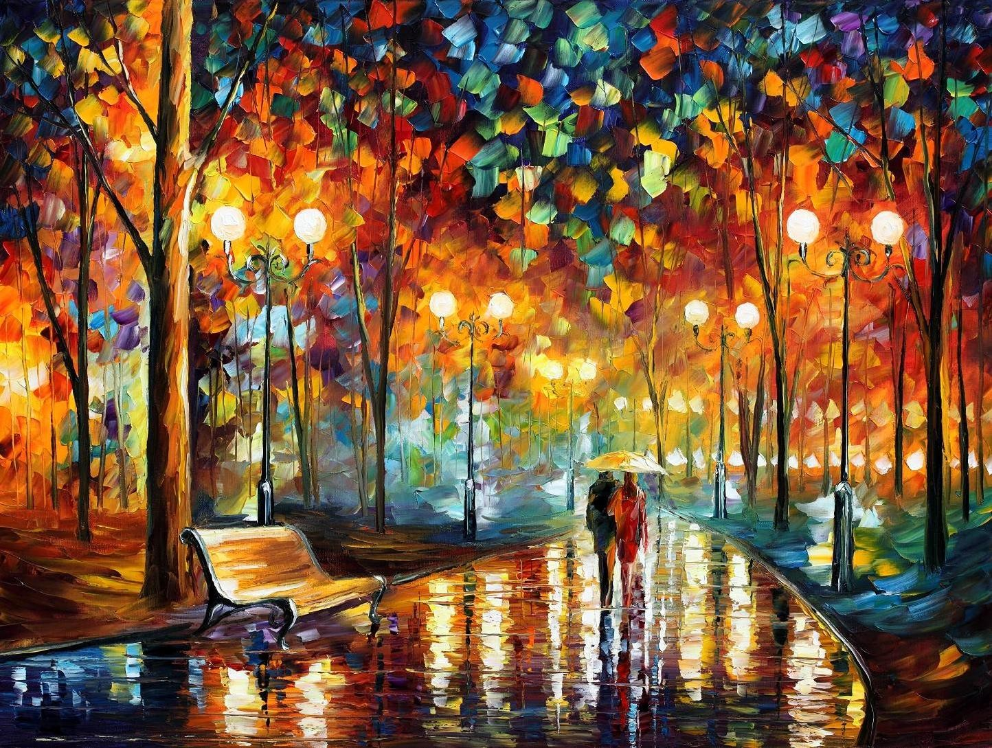 Modern impressionism palette knife oil painting kp067