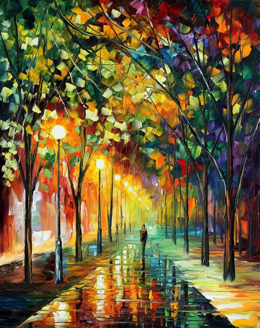 Modern impressionism palette knife oil painting kp068