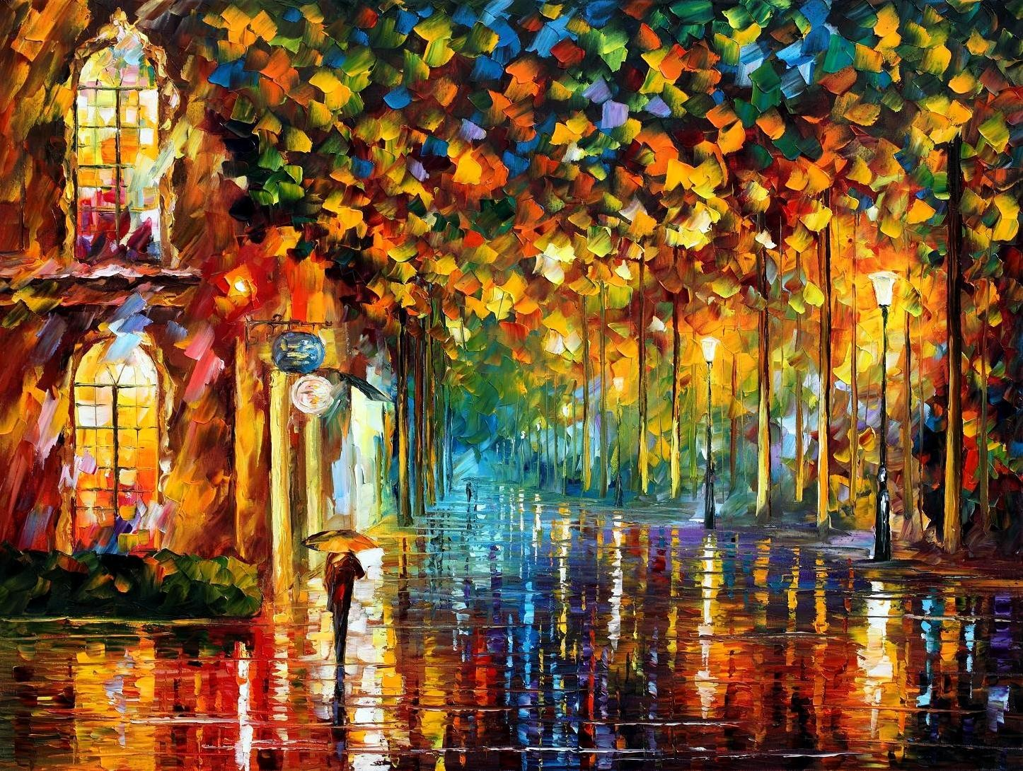 Modern impressionism palette knife oil painting kp077