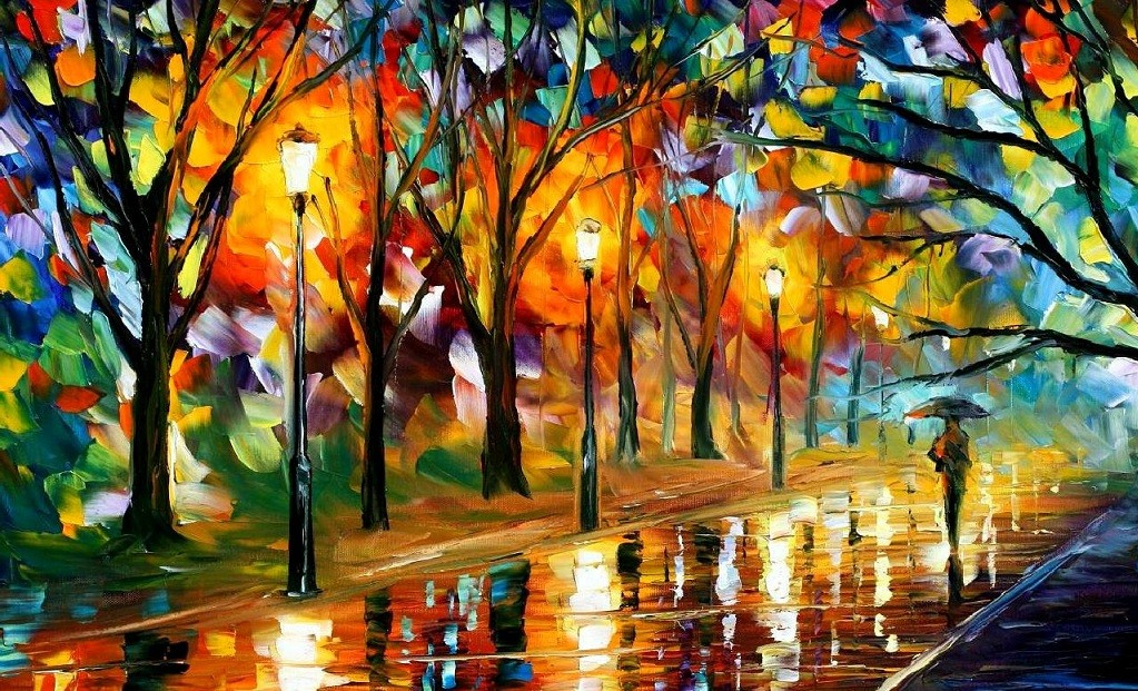 Modern impressionism palette knife oil painting kp085