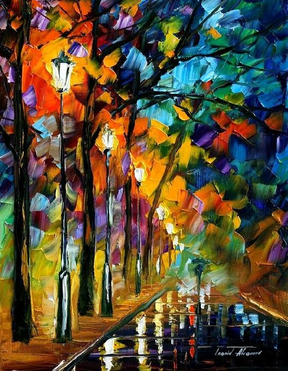 Modern impressionism palette knife oil painting kp094
