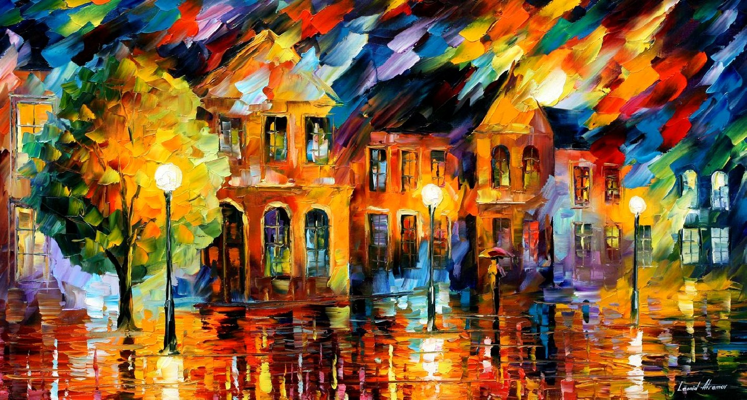 Modern impressionism palette knife oil painting kp105