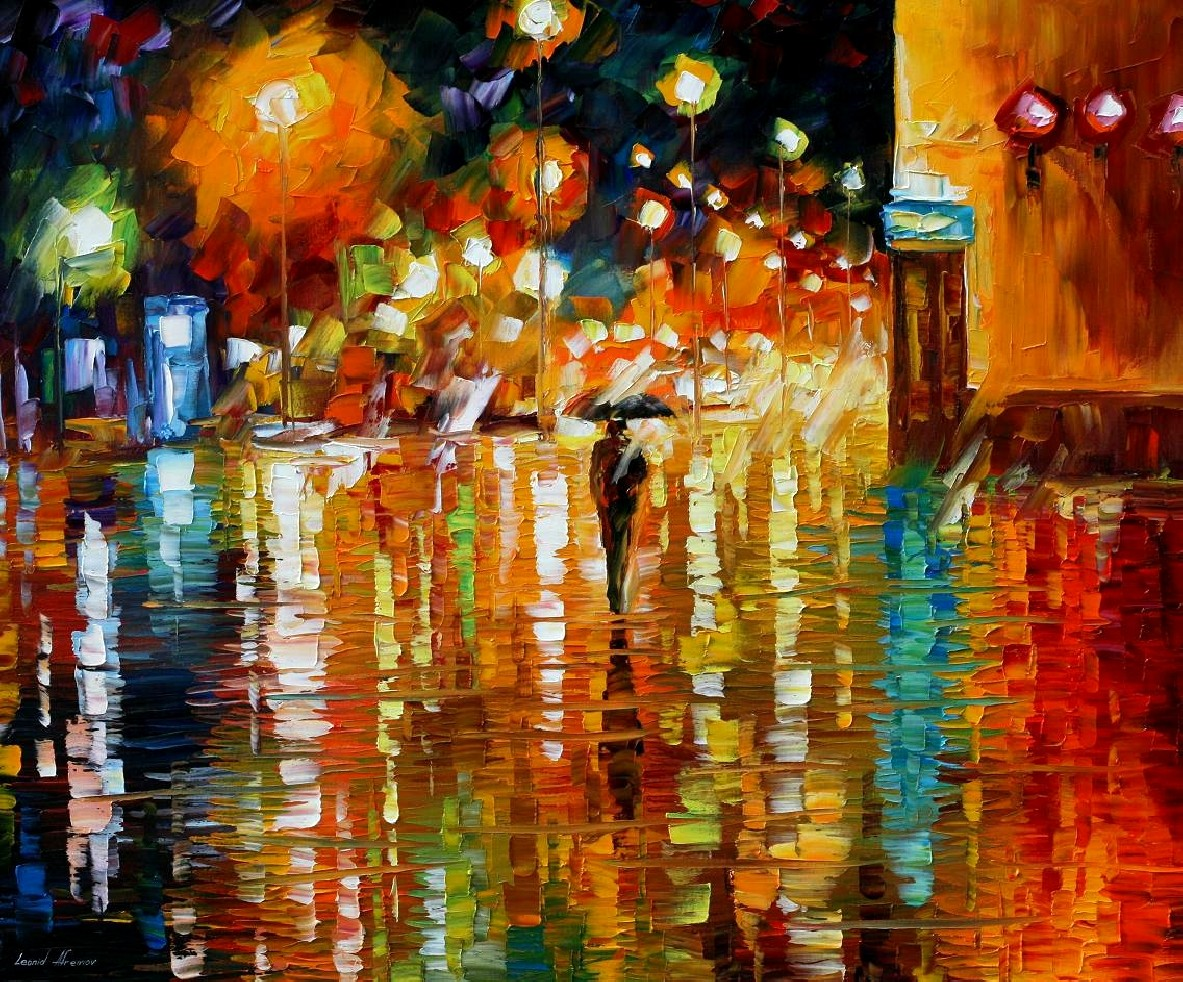 Modern impressionism palette knife oil painting kp106