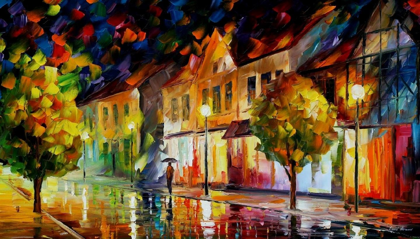 Modern impressionism palette knife oil painting kp120
