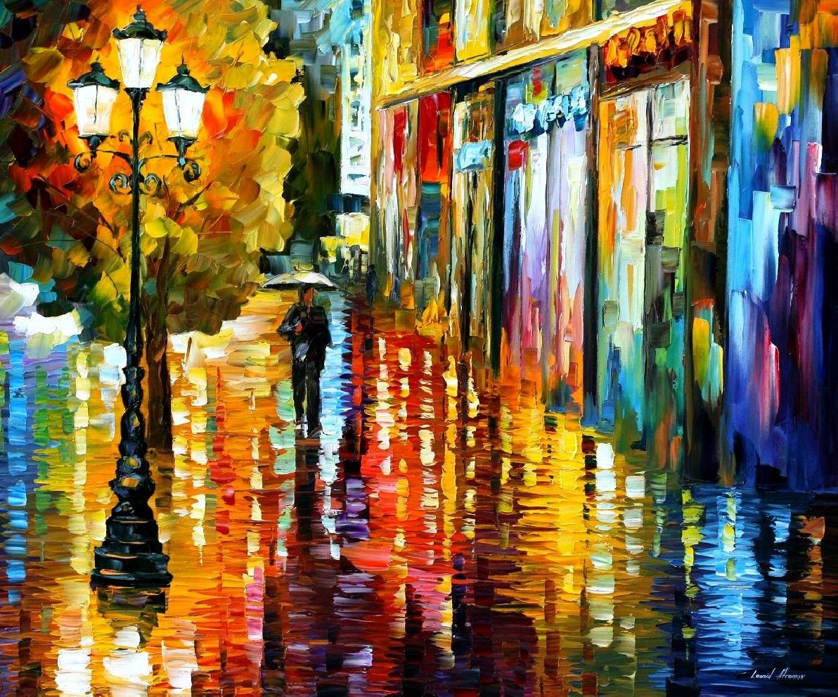 Modern impressionism palette knife oil painting kp126