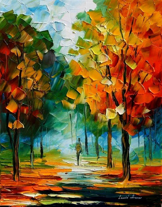 Modern impressionism palette knife oil painting kp143