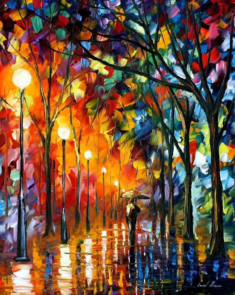 Modern impressionism palette knife oil painting kp147