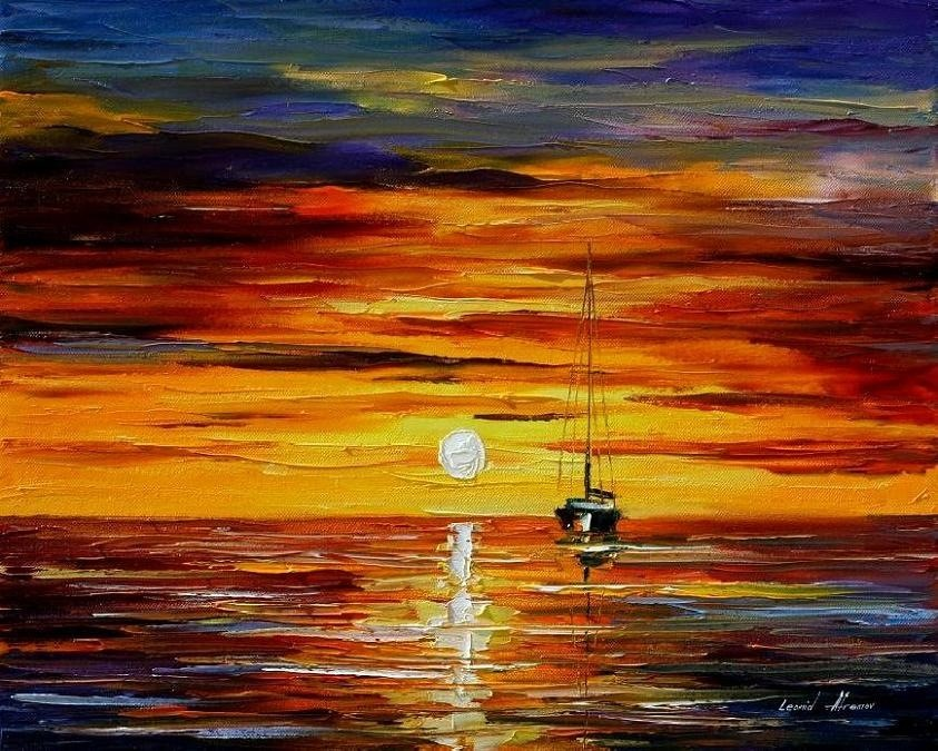 Modern impressionism palette knife oil painting kp148