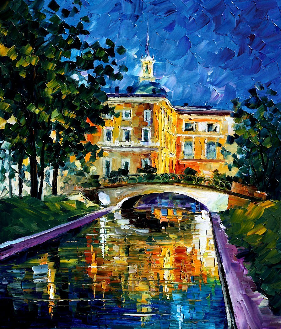Modern impressionism palette knife oil painting kp158