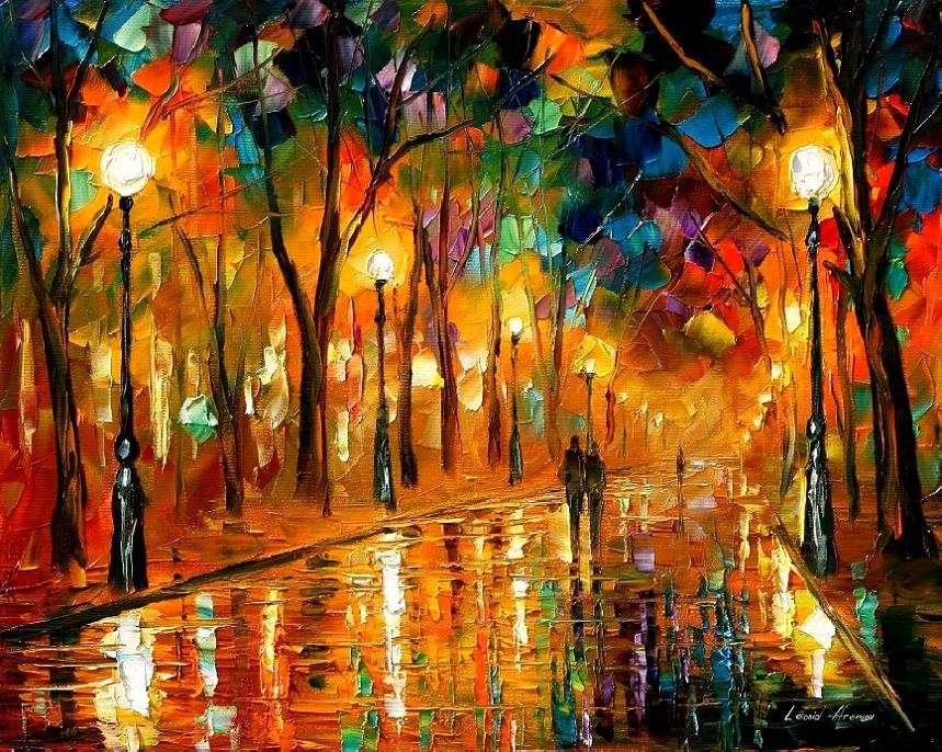 Modern impressionism palette knife oil painting kp161
