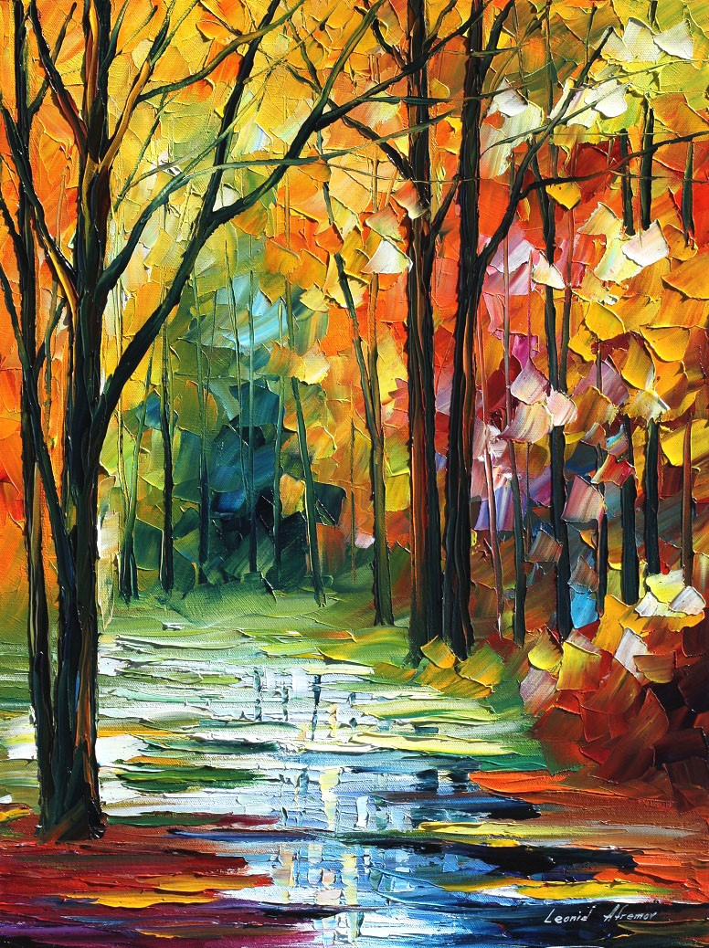 Modern impressionism palette knife oil painting kp162