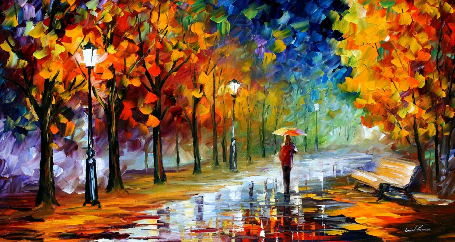 Modern impressionism palette knife oil painting kp169