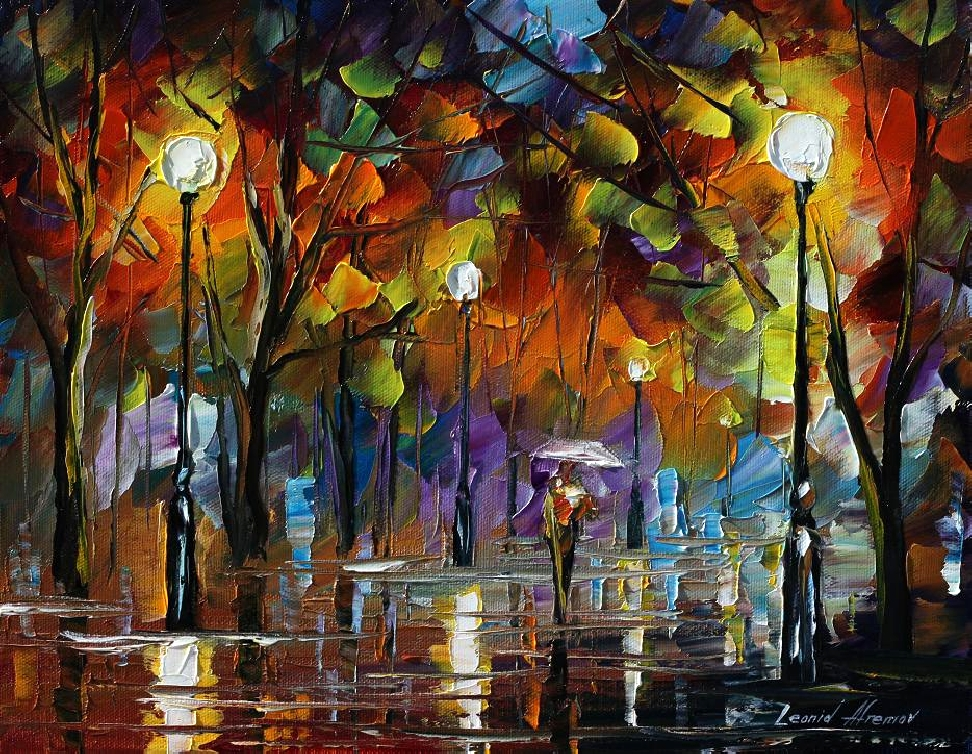 Modern impressionism palette knife oil painting kp175