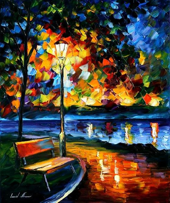 Modern impressionism palette knife oil painting kp178