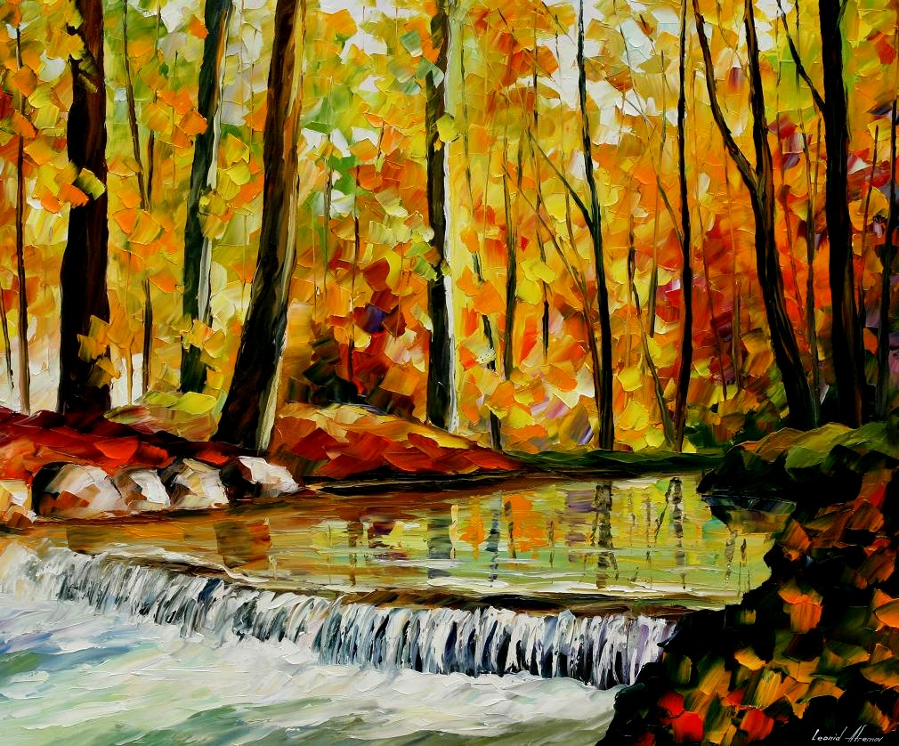 Modern impressionism palette knife oil painting kp179