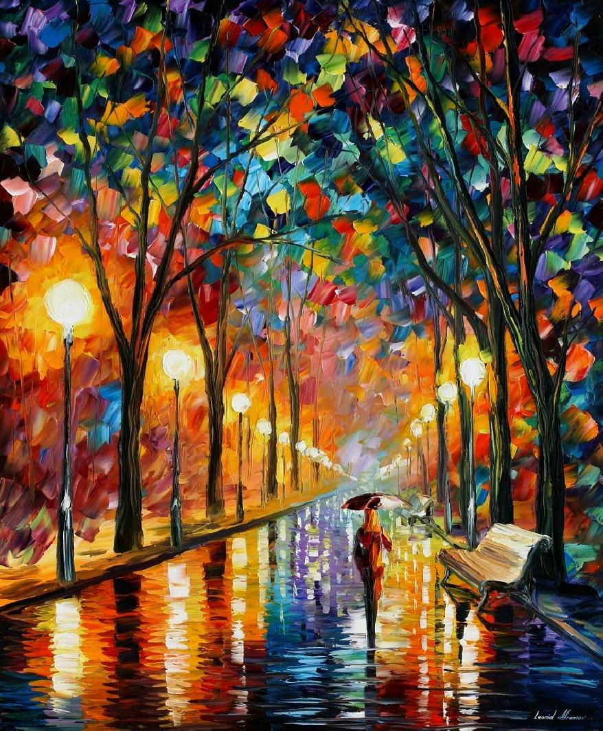 Modern impressionism palette knife oil painting kp180
