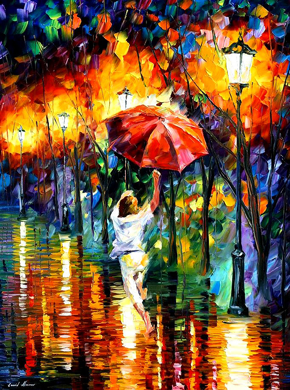 Modern impressionism palette knife oil painting kp183