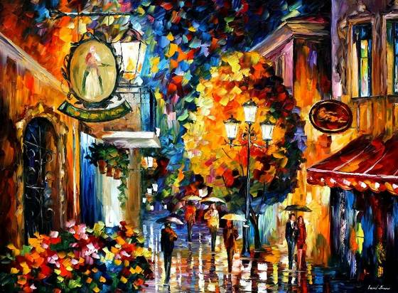 Modern impressionism palette knife oil painting kp188