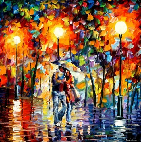 Modern impressionism palette knife oil painting kp190