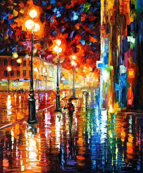 Modern impressionism palette knife oil painting kp191