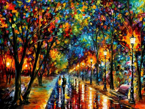 Modern impressionism palette knife oil painting kp197