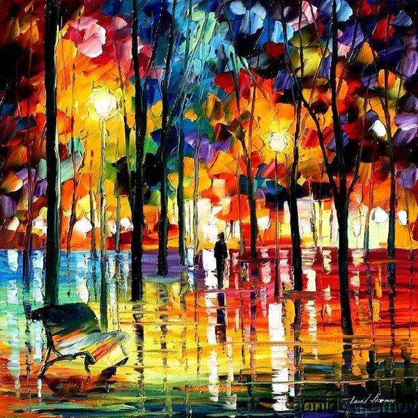 Modern impressionism palette knife oil painting kp198