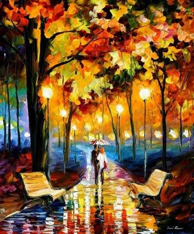 Modern impressionism palette knife oil painting kp202