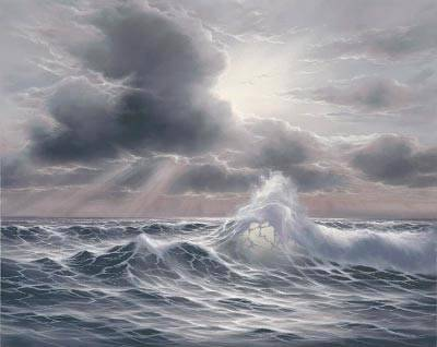 Dafen Oil Painting on canvas seascape -sea004