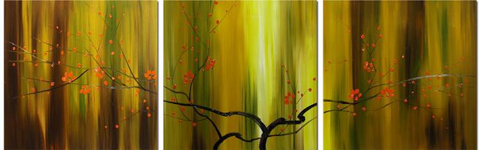 Dafen Oil Painting on canvas leaves -set025