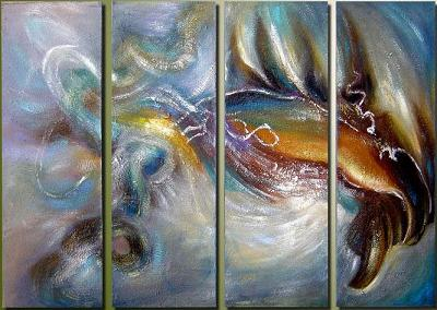 Dafen Oil Painting on canvas abstract -set028