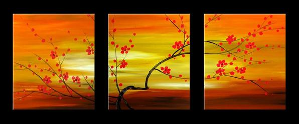 Dafen Oil Painting on canvas leaves -set030