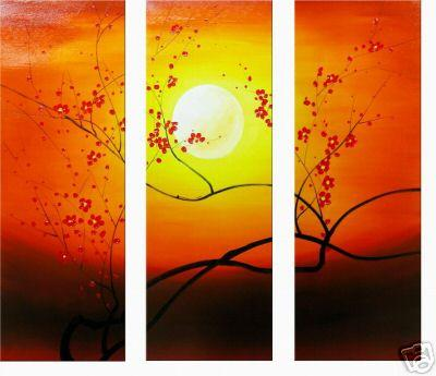 Dafen Oil Painting on canvas flower paintings -set034