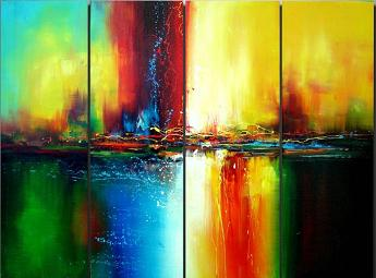 Dafen Oil Painting on canvas abstract -set044