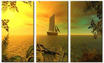 Dafen Oil Painting on canvas seascape -set058