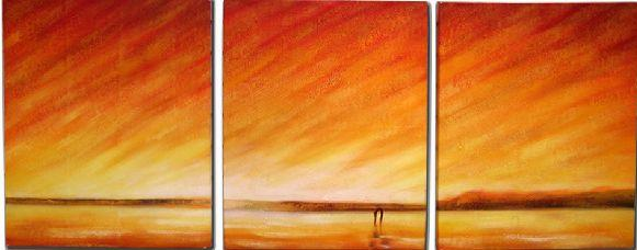 Dafen Oil Painting on canvas sunglow -set063