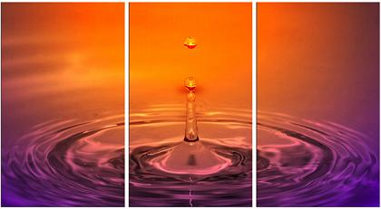 Dafen Oil Painting on canvas red water drop -set080