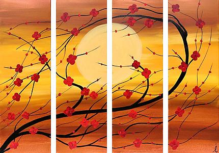 Dafen Oil Painting on canvas flower -set103