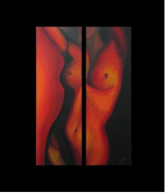 Dafen Oil Painting on canvas nude -set109