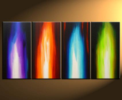 Dafen Oil Painting on canvas abstract -set114