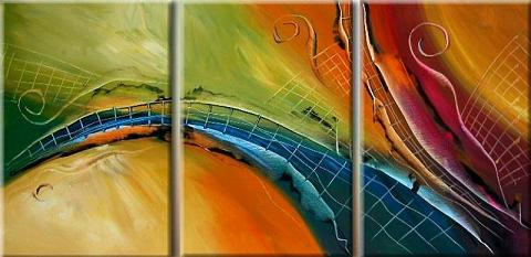 Dafen Oil Painting on canvas abstract -set115