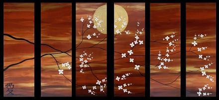 Dafen Oil Painting on canvas flowers -set127