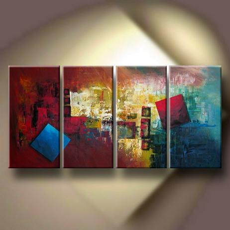 Dafen Oil Painting on canvas abstract -set138