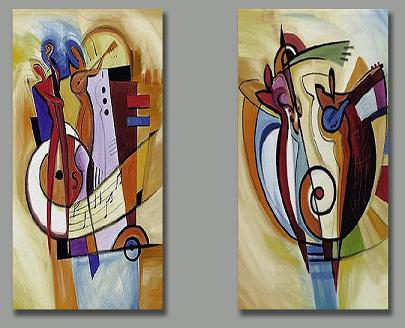 Dafen Oil Painting on canvas abstract-set152