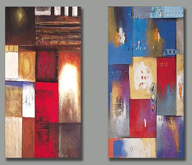 Dafen Oil Painting on canvas abstract-set159